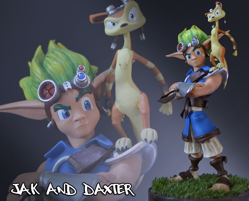 Jak and Daxter Statue