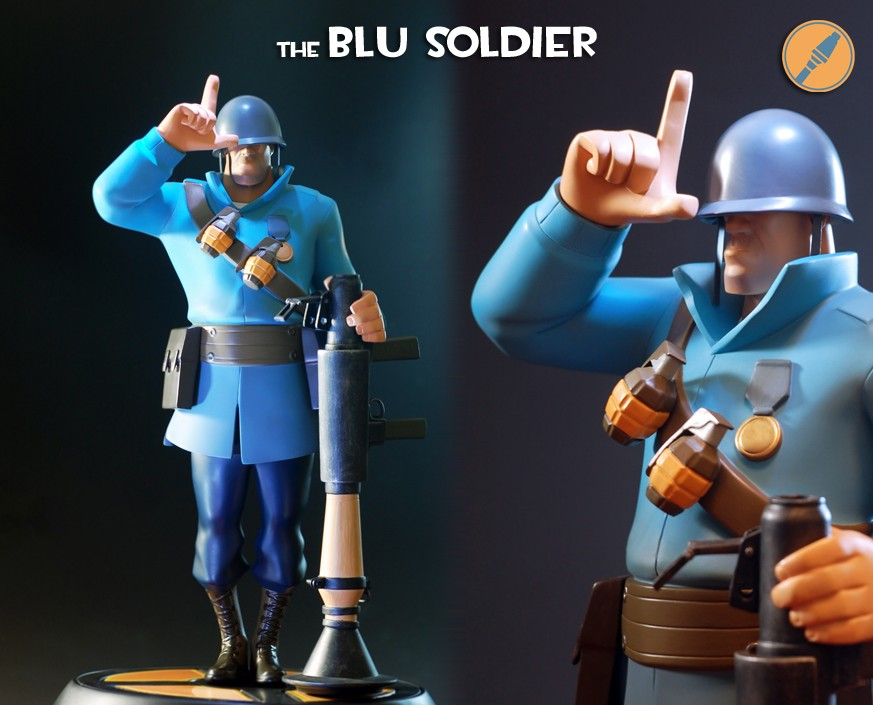Team Fortress 2: The BLU Soldier Statue