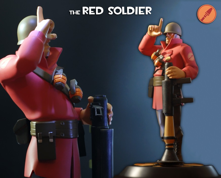 Team Fortress 2: The RED Soldier Statue