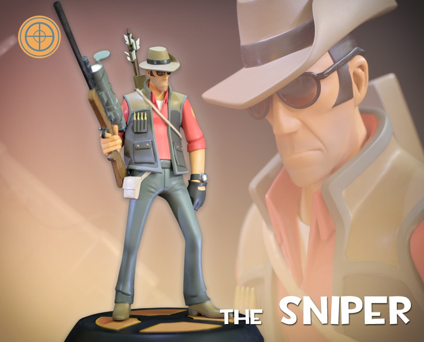 Team Fortress 2: The RED Sniper Statue