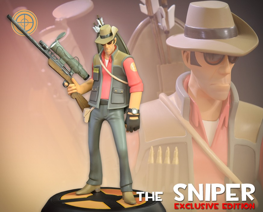 Team Fortress 2: The RED Sniper Exclusive Statue