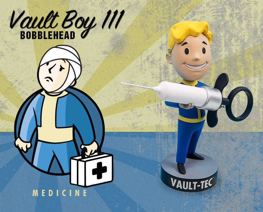 Fallout® 4: Vault Boy 111 Bobbleheads - Series Three: Medicine