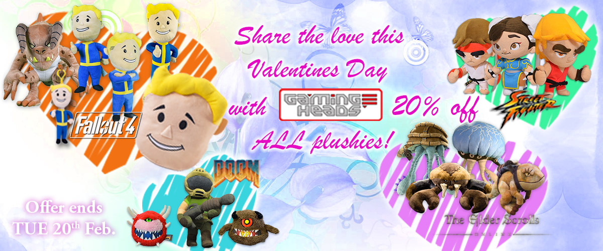 gaming heads valentines day 2018 plush sale statues resin pvc collectibles sideshow