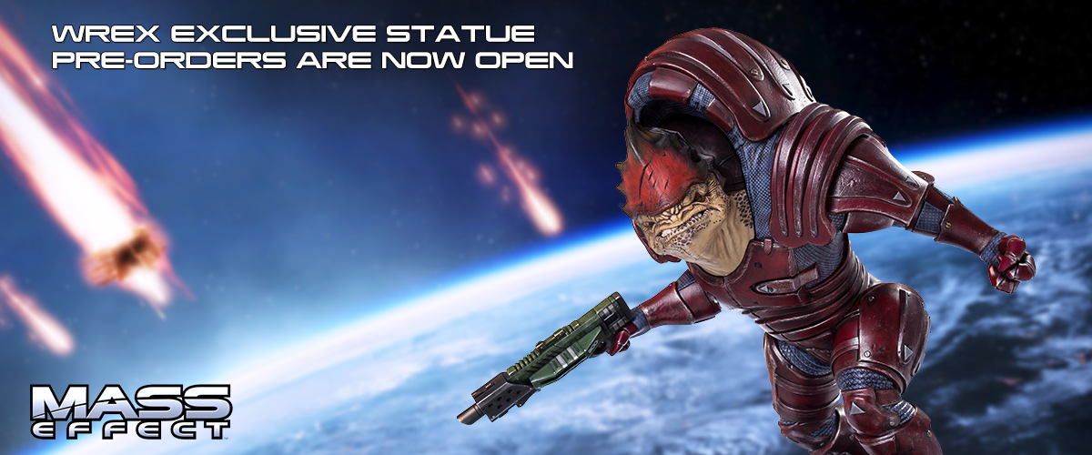 mass effect wrex statue bioware collectible resin gaming heads