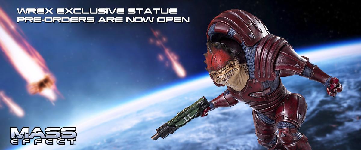 mass effect wrex statue bioware collectible resin gaming heads