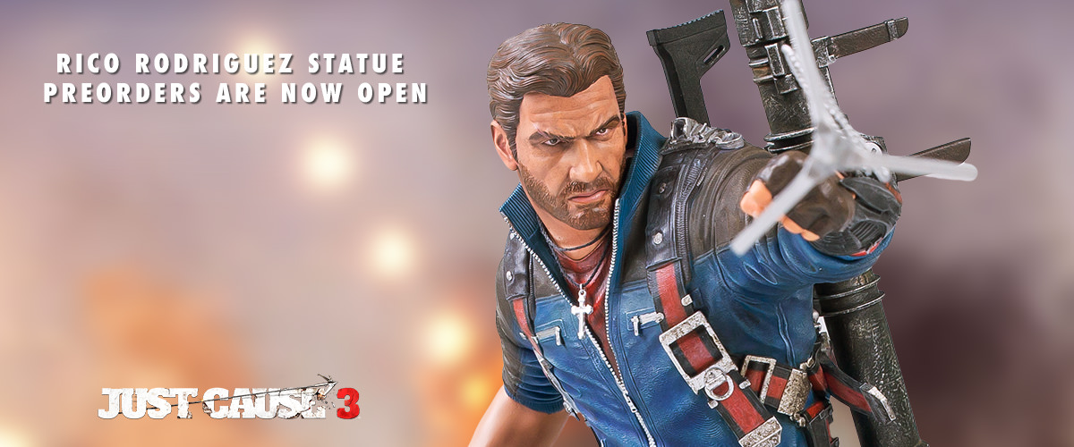 just cause 3, rico rodriguez, square enix, resin statue, collectible
