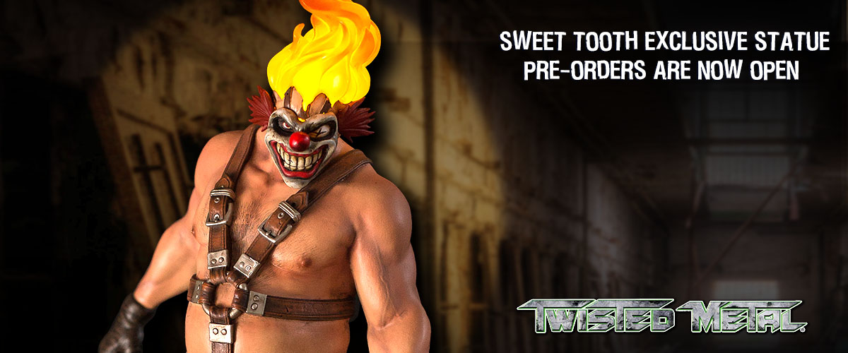 Twisted Metal Sweet Tooth statue