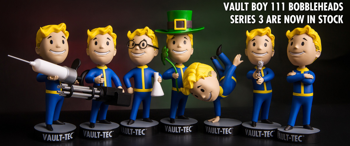 FALLOUT 4 VAULT BOY 111 BOBBLEHEADS SERIES THREE
