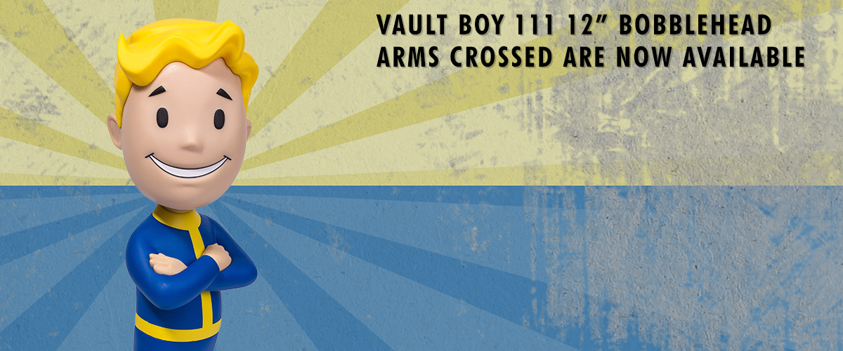 Fallout, 111, vault boy, bobblehead, arms crossed
