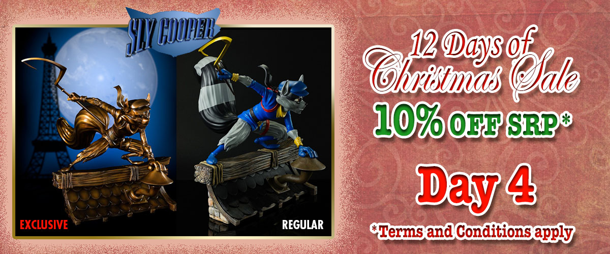 Gaming Head Playstation all stars Sly Cooper statue