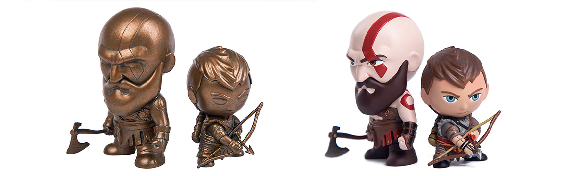 Announcing God of War™: Kratos and Atreus Mini Figures
