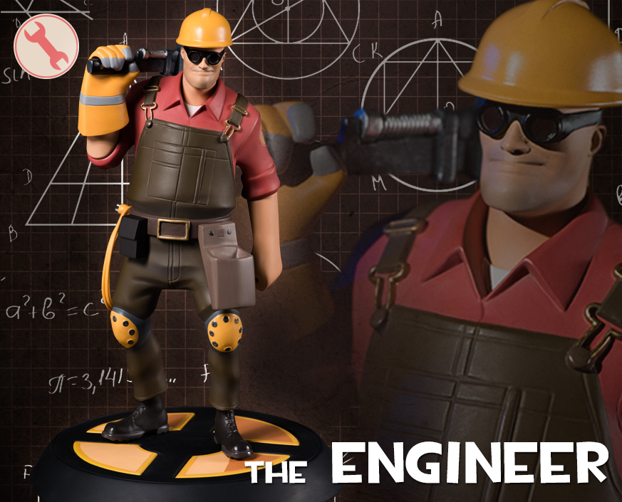 Team Fortress 2 The Red Engineer Statue Gaming Heads
