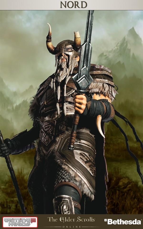 The Elder Scrolls Online Heroes Of Tamriel Nord Statue Gamingheads