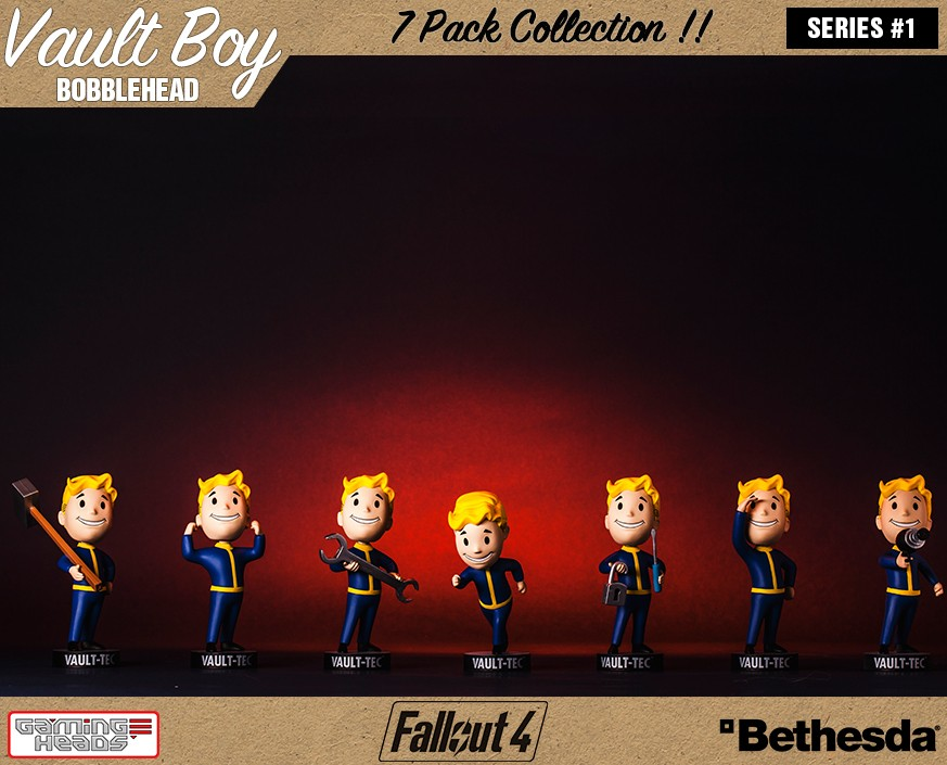 fallout 4 vault boy 111 bobbleheads series one 7 pack gamingheads