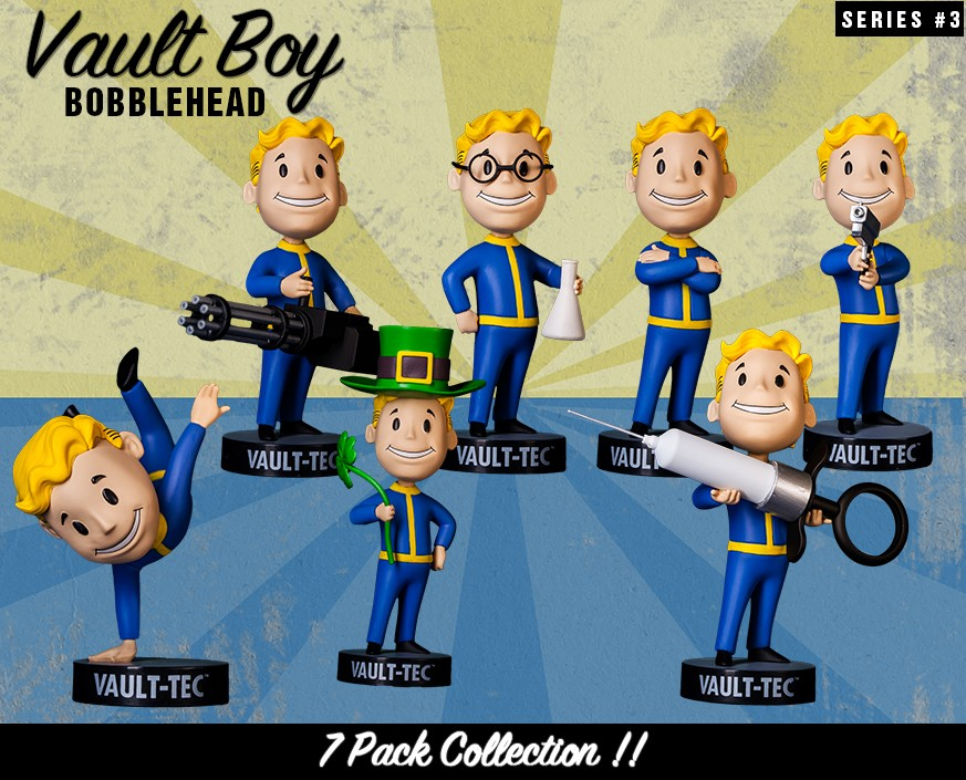 Fallout® 3: Vault Boy 101 Bobbleheads - Series Three 7 Pack
