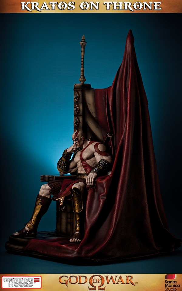 God Of War Kratos On Throne Statue  Gaming Heads-9607