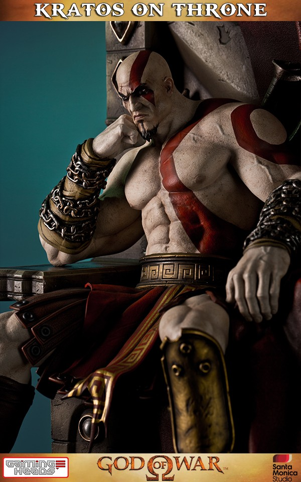 God Of War Kratos On Throne Statue