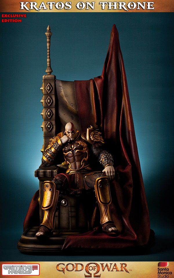God Of War Kratos On Throne Exclusive Statue  Gamingheads-5906