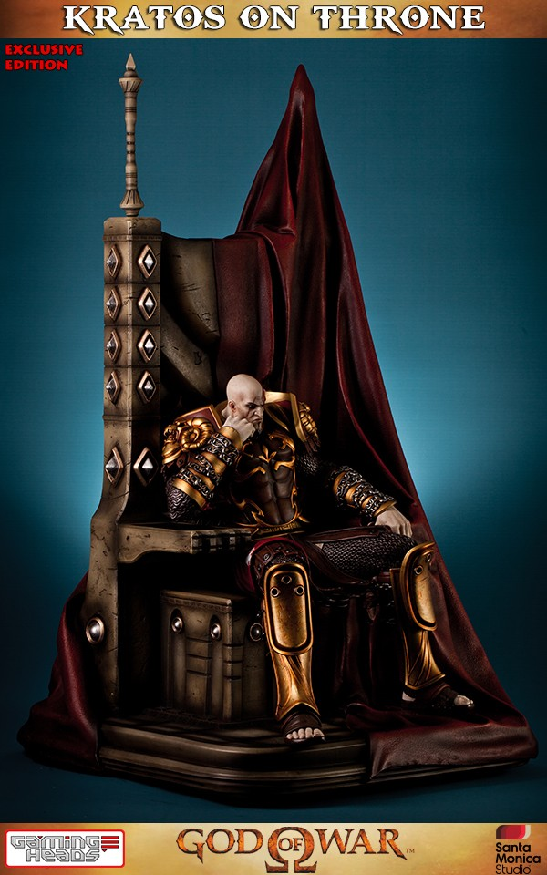 God Of War Kratos On Throne Exclusive Statue - Sale -9277