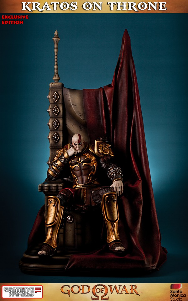 God Of War Kratos On Throne Exclusive Statue Gamingheads