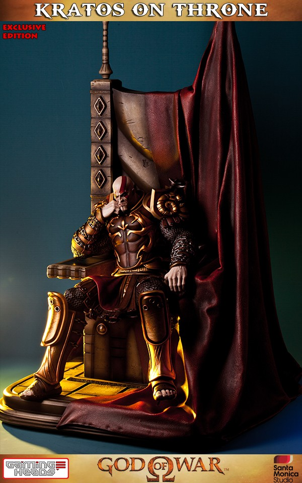 God Of War Kratos On Throne Exclusive Statue  Gamingheads-8188