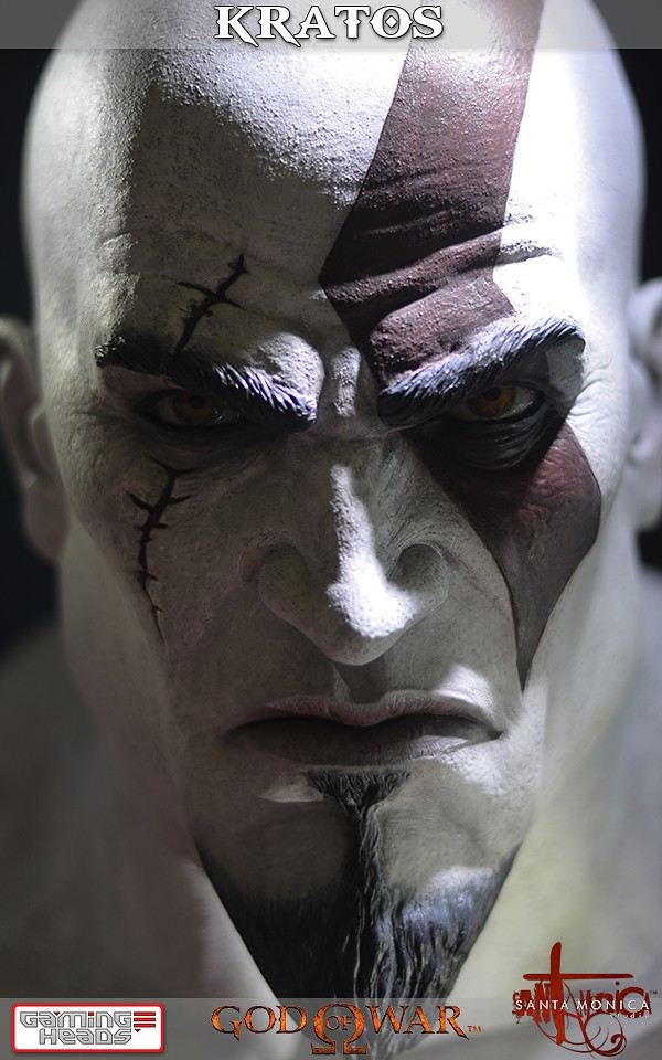 God Of War Kratos Life Size Bust  Gamingheads-9193