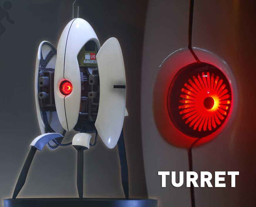 Portal2 Turret Statue Gamingheads