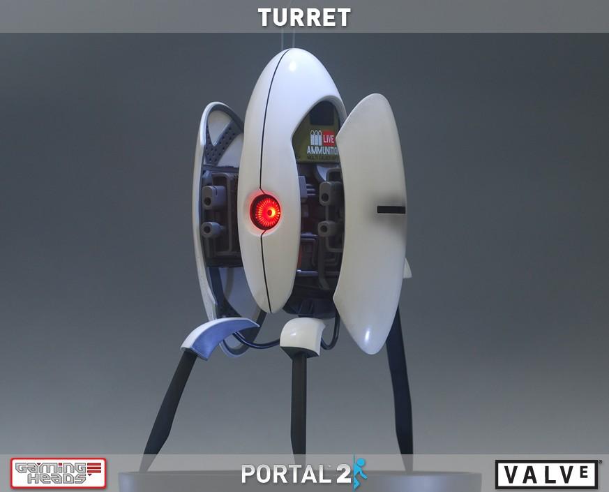 Portal2 Turret Statue Gamingheads