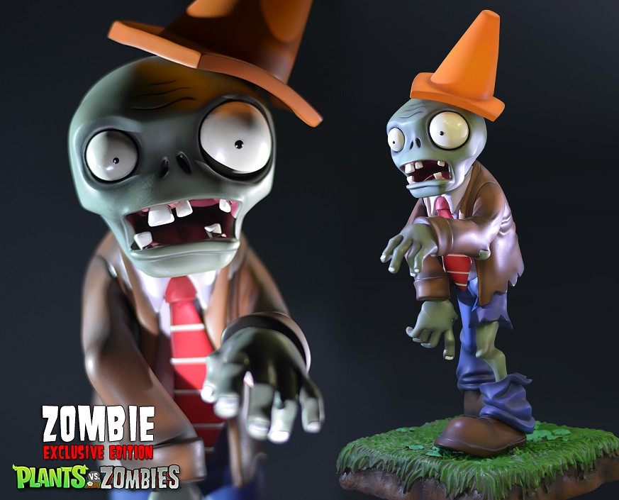Plants vs. Zombies™: Conehead Zombie Exclusive Resin Figurine