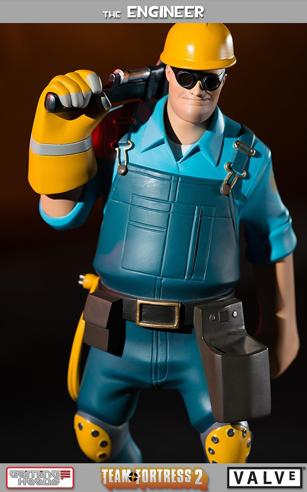 Team Fortress 2 The Blu Engineer Statue Gaming Heads