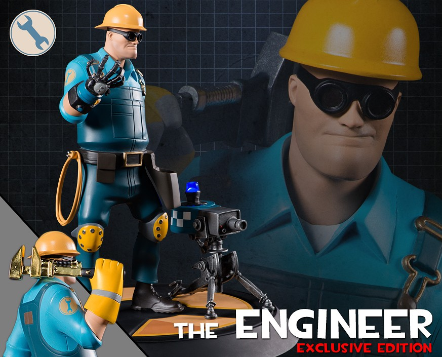 Team Fortress 2: The BLU Engineer Exclusive Statue