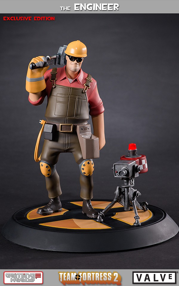 Team Fortress 2 The Red Engineer Exclusive Statue Gaming Heads