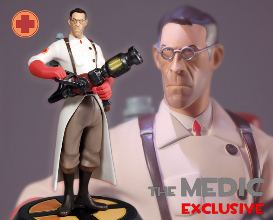 Team Fortress 2: The RED Medic Exclusive Statue