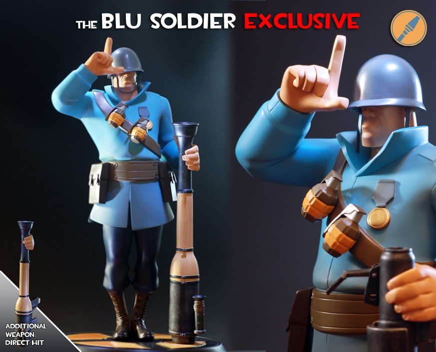 Team Fortress 2: The BLU Soldier Exclusive Statue