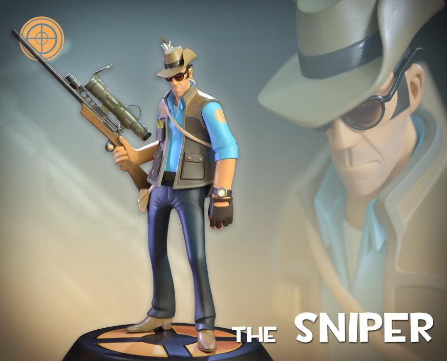 Team Fortress 2: The BLU Sniper Statue