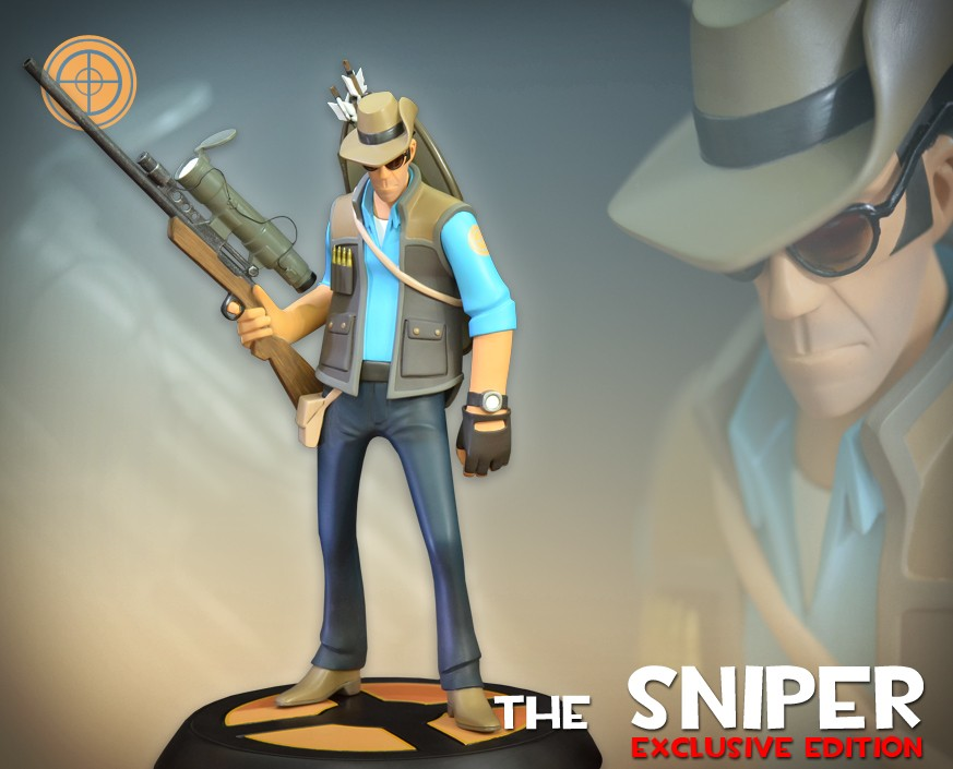 Team Fortress 2: The BLU Sniper Exclusive Statue