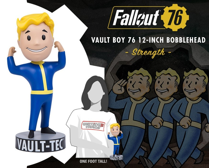 "Fallout®: Vault Boy 76 Strength - 12"" (tall) bobblehead"