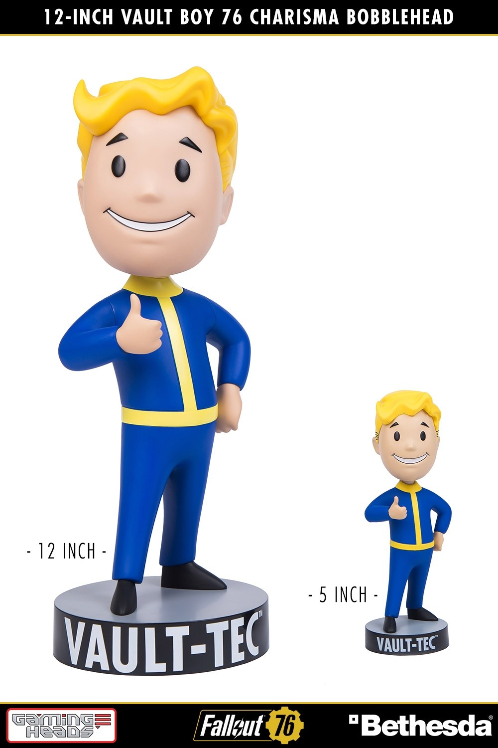Fallout® 76: Vault Boy 76 Charisma 12-Inch Bobblehead