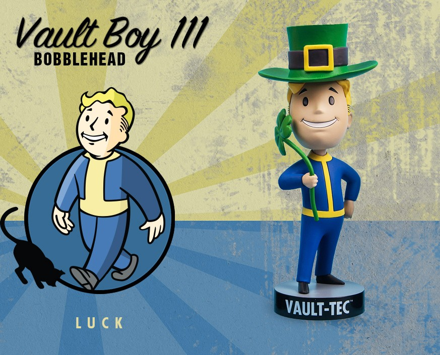 Fallout® 4: Vault Boy 111 Bobbleheads - Series Three: Luck