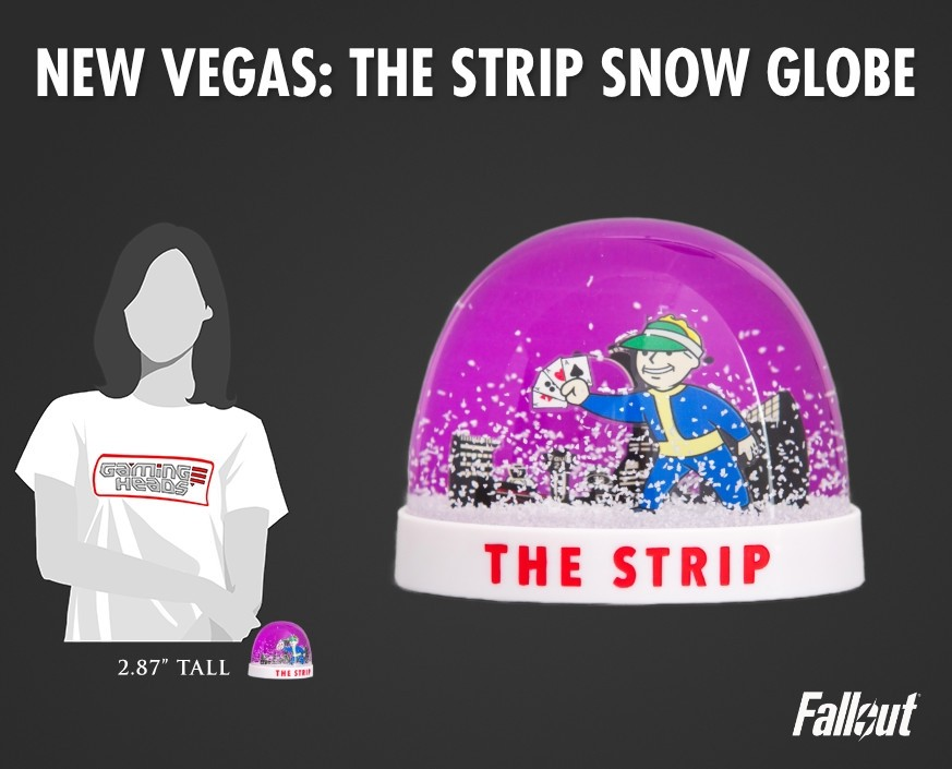Fallout®: New Vegas - The Strip snow globe