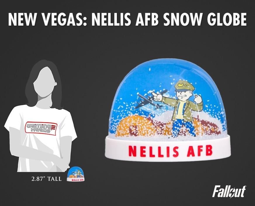 Fallout®: New Vegas - Nellis AFB snow globe