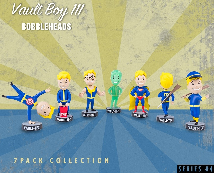 Fallout® 4: Vault Boy 111 Bobbleheads - Series Four 7 Pack