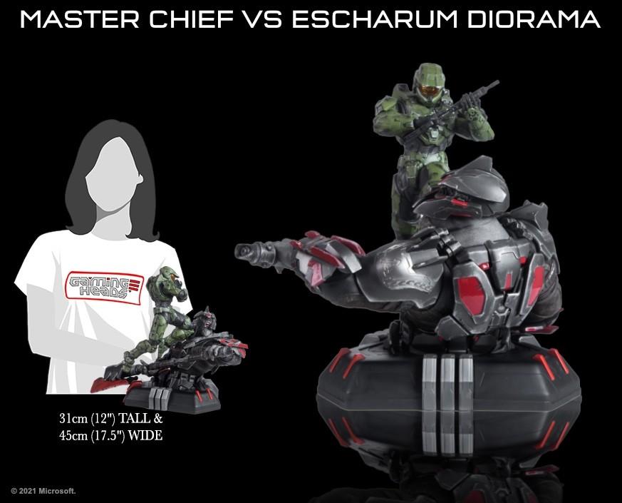 Halo: Infinite - Master Chief vs. Escharum diorama