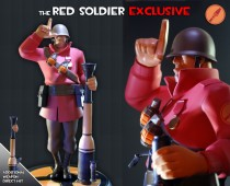 Team Fortress 2: The RED Soldier Exclusive Statue