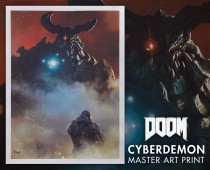 DOOM®: Cyber Demon Master Art Print *