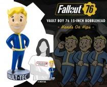 "Fallout®: Vault Boy 76 Hands on Hips  polystone resin 15"" tall Mega Bobblehead"