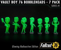 Fallout® 76: Vault Boy 76 Bobbleheads - Series One Glowing Radioactive Edition
