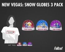 Fallout®: New Vegas - Snow Globes 3 Pack (series 1)