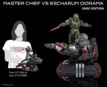 Halo Infinite: Master Chief vs. Escharum (UNSC edition) diorama