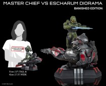 Halo Infinite: Master Chief v Escharum (Banished edition) diorama